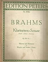 Brahms Klarinetten Sonaten Op.120 Nr.1 F Minor PIANO ONLY Sold AS IS NO VIOLA PART