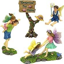PRETMANNS Fairy Garden Fairy Accessories – Miniature Fairy Garden Accessories - A Joyful Fairy Figurines Playground Kit - ...