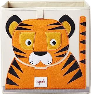 Cube de rangement Tigre 33 x 33 cm - 3 Sprouts