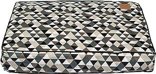 MOG & BONE Classic Cushion Dog Bed Mocca Diamond Print Large