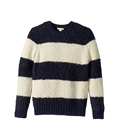 crewcuts by J.Crew Loopy Yarn Crew Neck Sweater (Toddler/Little Kids/Big Kids) (Navy/Ivory Stripe) Boy