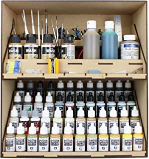 War World Gaming MDF Modular Paint Station System - Stackable Section with Tool & Paint Drawers – Wargame Miniature Mini F...
