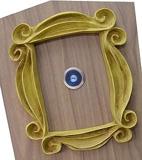LaRetrotienda 🎁 FRIENDS tv show VINTAGE STYLE yellow peephole frame Monica's door. Handmade.
