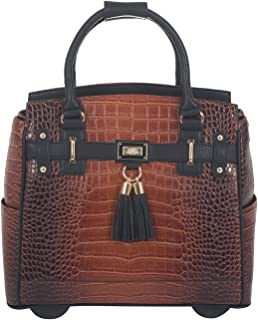 "The Boston Alligator Crocodile Alligator Computer iPad, Laptop Tablet Rolling Tote Bag Briefcase Carryall Bag 15.6"" inch b..."