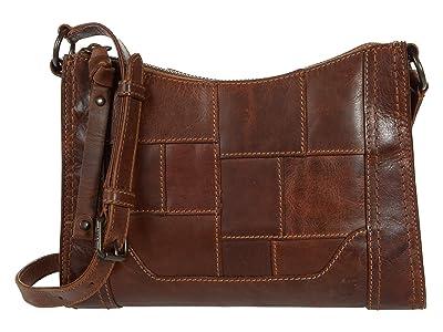Frye Melissa Zip Crossbody (Cognac) Cross Body Handbags