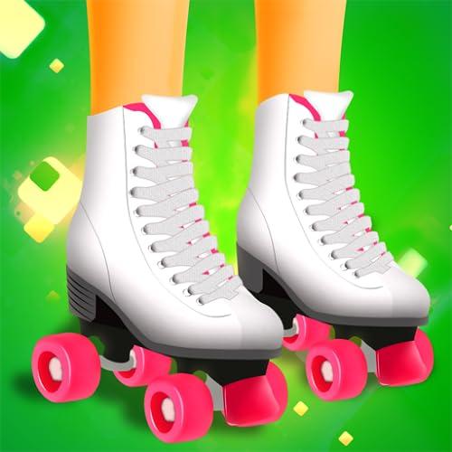 Mädchen Skater - das Mädchen nur Skaten Skateboard, Inline-Skates, Skate-Quads & andere Rollen spielt freies Spiel