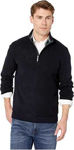 Lohas Long Sleeve 1/2 Zip Funnel Neck Sweater