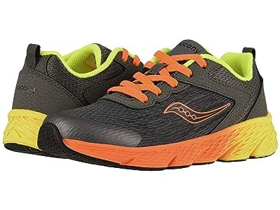 Saucony Kids Wind (Little Kid/Big Kid) (Grey/Orange) Boys Shoes
