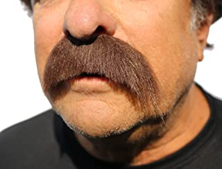 Walrus Mustache, Fake Facial Hair Realistic Looking False Facial Hair with Adhesive for Adults