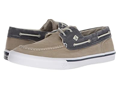 Sperry Bahama II Boat Washed Sneaker (Taupe/Navy) Men