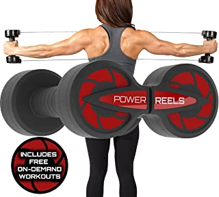 POWER REELS Amazon's #1 Best Portable Fitness Product The Best, Most Effective Resistance Exercise Product. Home Gym Workout : Abs, Core, Arms, Legs, Chest, Back, Shoulders.