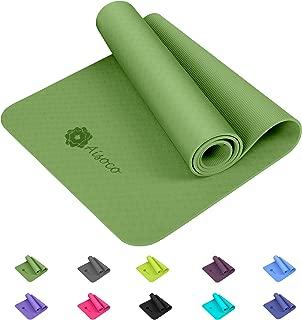Aisoco Premium TPE Yoga Mat Pilates Mat - Eco Friendly,Non-Slip - with Carrying Strap
