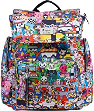 JuJuBe Be Sporty Backpack/Diaper Bag, Tokidoki Collection - Sushi Cars