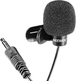Neewer 3.5mm Hands Free Computer Clip on Mini Lapel Microphone(3X Lapel Microphone)