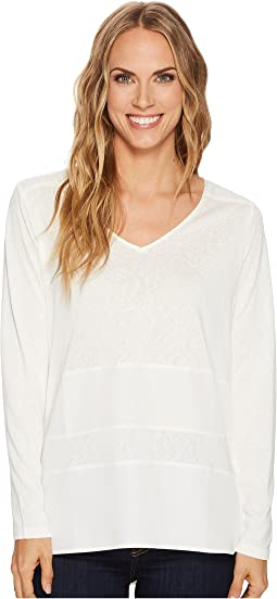 Long Sleeve V-Neck Top w/ Combo