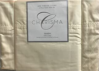Charisma 420 Thread Count Queen Sheet Set Ivory