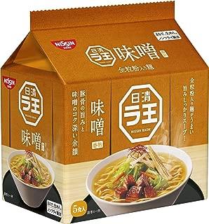 日清 ラ王 味噌 5食パック 495g ×6袋