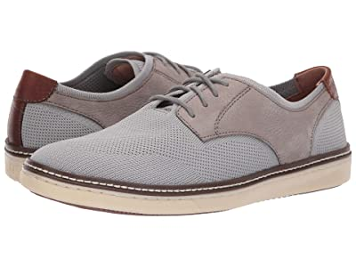 Johnston & Murphy McGuffey Plain Toe Knit Sneaker (Gra Knit/Nubuck) Men