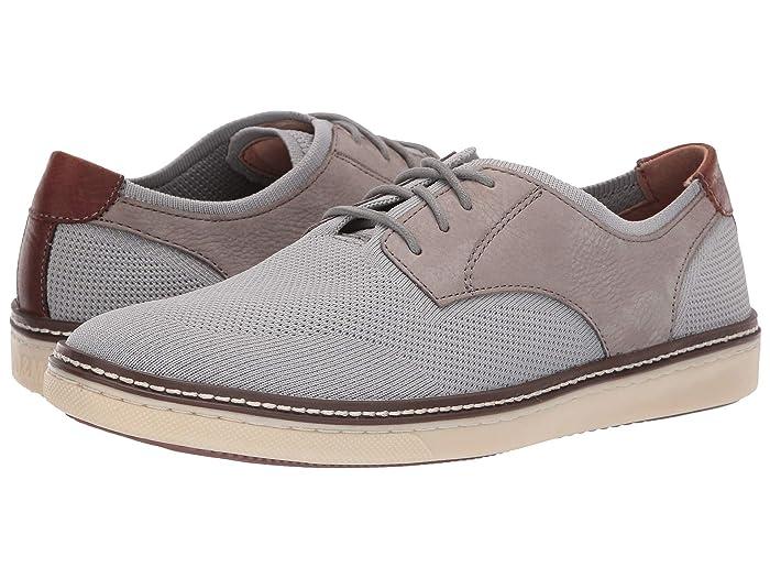 Johnston and Murphy  McGuffey Plain Toe Knit Sneaker (Gra Knit/Nubuck) Mens Lace up casual Shoes