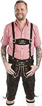 Men's Oktoberfest Lederhosen - Original German Knee Breeches Leather Trouser