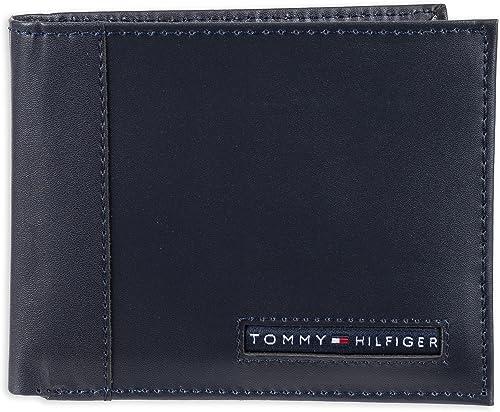 Tommy Hilfiger Porte-Monnaie en Cuir Cambridge avec Porte-Carte Amovible pour Homme Taille Unique Marine
