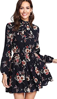 Best long sleeve flower print dress Reviews