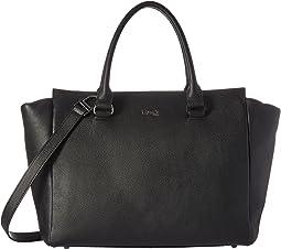 Plume Elegance Leather Medium Satchel Bag