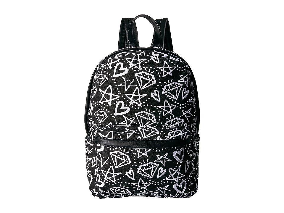 Circus by Sam Edelman Graffiti Print Backpack (Black/White Graffiti) Backpack Bags