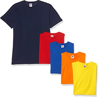 Fruit of the Loom Valueweight Short Sleeve T-Shirt (Lot de 5) Homme