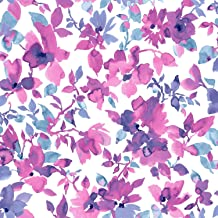 RoomMates Bright Watercolor Floral Peel and Stick Wallpaper