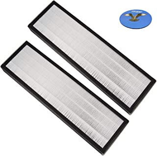 HQRP 2-Pack True HEPA Filter Compatible with Oransi Finn Air Filter Replacement