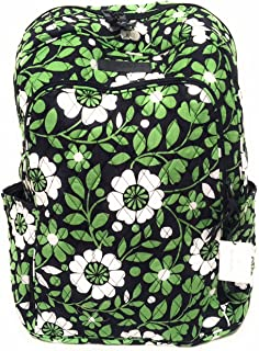 Vera Bradley Laptop Backpack (Updated Version) with Solid Color Interiors (Lucky You with Navy Interior)