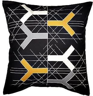Ikea BJÖRNLOKA FIGUR Cushion Pillow Cover, Bjornloka Figur white/black, orange 100% Cotton
