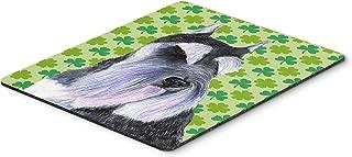 Caroline's Treasures Mouse/Hot Pad/Trivet, Schnauzer St. Patrick's Day Shamrock Portrait (SS4408MP)