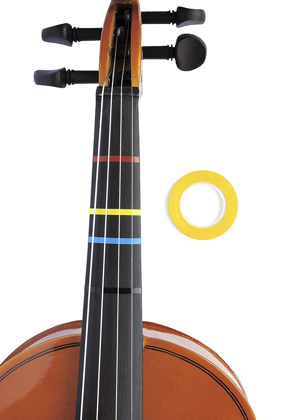 Jumbo YELLOW Color Violin Fingering Tape for Fretboard Note Positions