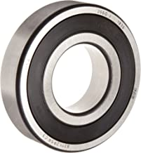 FAG 6309-2RSR-C3 Deep Groove Ball Bearing, Single Row, Double Sealed, Steel Cage, C3 Clearance, Metric, 45mm ID, 100mm OD, 25mm Width, 4500 rpm Maximum Rotational Speed, 7100 lbf Static Load Capacity, 1200 lbf Dynamic Load Capacity