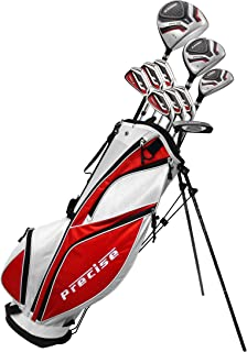 MDXII Men's Complete Golf Clubs Full Package Set Includes Titanium Driver, S.S. Fairway, S.S. Hybrid, S.S. 5-PW Irons, Putter, Bag, HC's