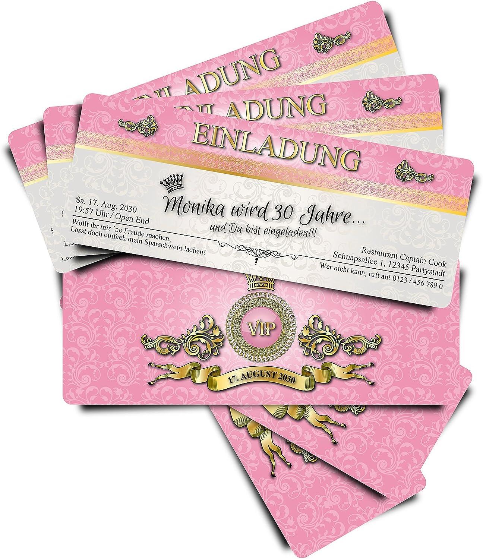 40 Geburtstagskarten Geburtstagskarten Geburtstagskarten Geburtstagseinladungen Einladungskarten zum Geburtstag VIP Rosa Royal  Ticket Eintrittskarte B01IZSI7IU   Roman    Überlegen    Förderung  b36587