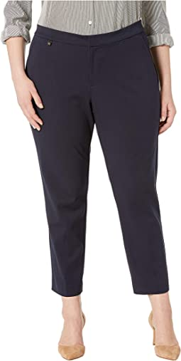 Plus Size Cotton Twill Skinny Pants