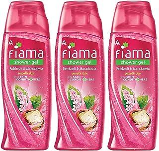 Fiama Shower gel Patchouli & Macadamia Pure Indulgence bodywash with skin conditioners, 250ml (Pack of 3)