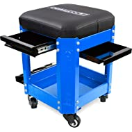 OEMTOOL 24996 Blue Rolling Workshop Creeper Seat with 2 Tool Storage Drawers Under Seat Parts...