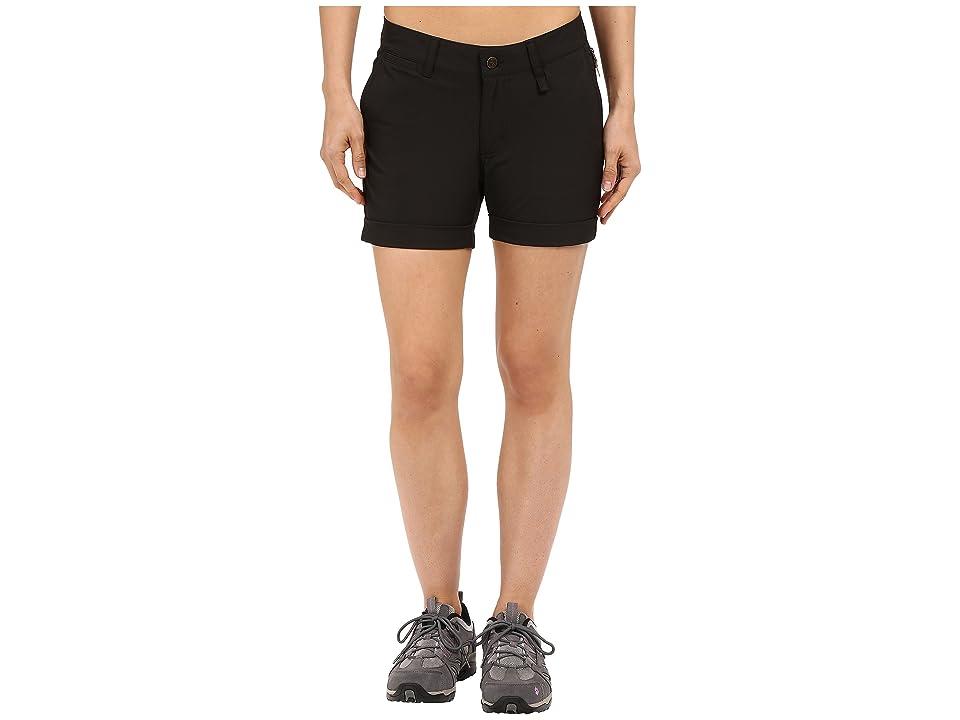 Fjallraven Abisko Stretch Shorts (Black) Women