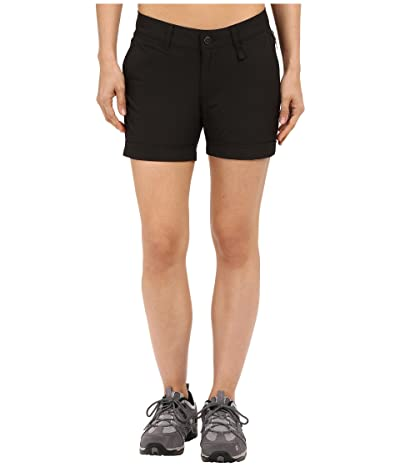 Fjallraven Abisko Stretch Shorts (Black) Women