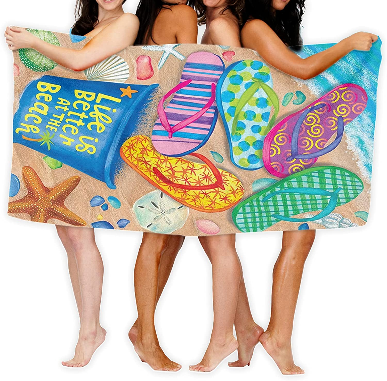 ~ Year-end annual account Better at The Beach Summer Flops Towel- Nautical Overseas parallel import regular item Microfi