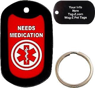 Custom Engraved Pet Tag Medication