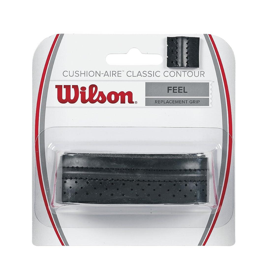 スコアカトリック教徒フルーツ野菜Wilson(ウイルソン) テニス リプレースメントグリップ CUSHION-AIRE CLASSIC CONTOUR (クッションエアークラシックコンツアー) 1個入り WRZ4203BK