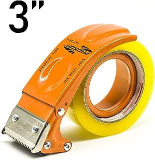 PROSUN Metal Handheld Tape Gun Dispenser 3 Inch 75mm Wide Packing Packaging Sealing Tape Cutter Orange TG08-ORG