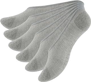 Occulto, 6 pares de calcetines invisibles para hombre y mujer, de algodón, de malla