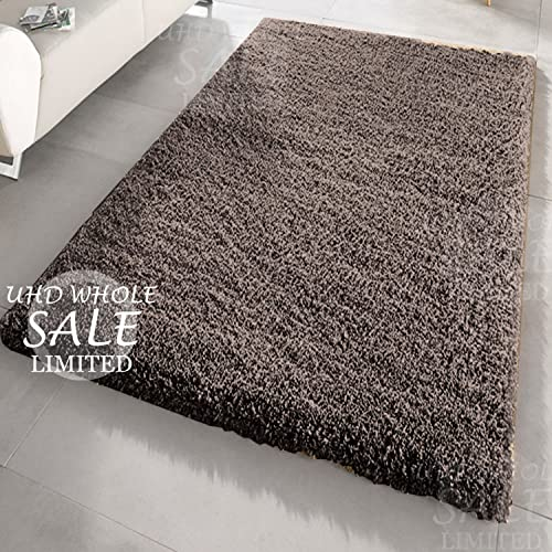 FB FunkyBuys® Large Small Modern Soft Touch Shaggy Thick Luxurious 5cm Dense Pile Bedroom Rug
