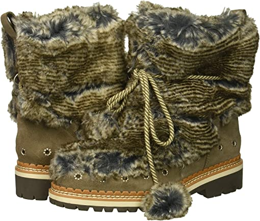 Grey Multi/Flint Grey Alpine Fur/Velutto Suede Leather